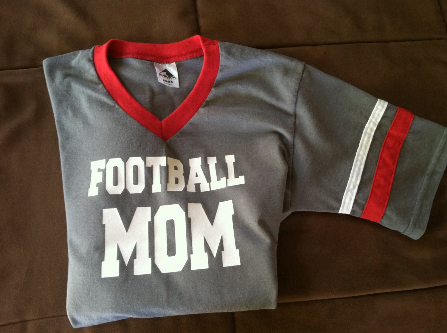 Football mom personalized custom jersey t shirt for Personalized football t shirts