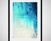 Fine Surreal Art Print: Green Blue Abstract Art