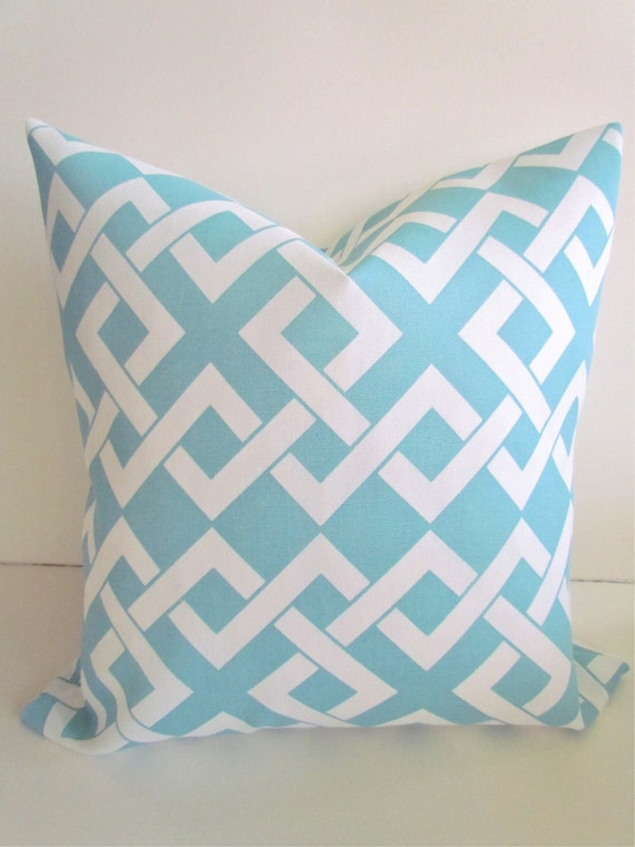 Throw Pillows Aqua Blue : Items similar to OUTDOOR PILLOWS Light Blue Throw Pillow Covers Blue Outdoor Pillows Aqua Blue ...