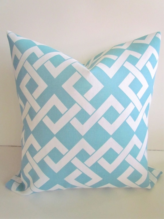 Items similar to OUTDOOR PILLOWS Light Blue Throw Pillow Covers