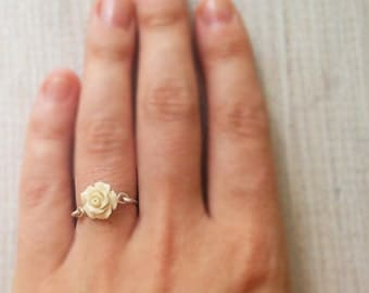 Gold ring, pinky ring, sterling silver ring, 14k gold filled ring, silver ring, rose ring, simple band, stacking ring, mother's day gift