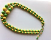 Vintage Japanese Green Yellow Necklace