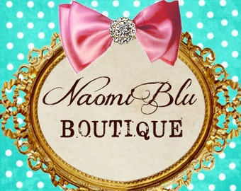 Add On. Purchase this listing to add personalization to you Naomi Blu Item.