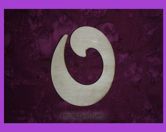 Letter o Unfinished Wood Lower Case Wooden Cut Out Paintable Stainable