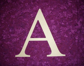 "Alpha Greek Letter A Unfinished Wooden Letters 12"" Inch Tall Paintable MDF"