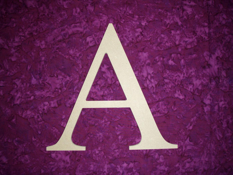 Alpha Greek Letter A Unfinished Wooden Letters 12 Inch