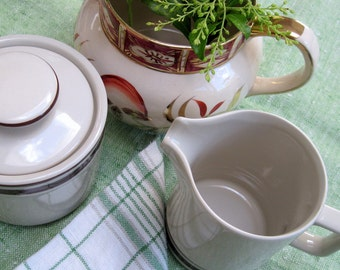 Orbit Sugar and Creamer Set, Stoneware