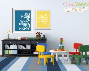 "Nursery decor, baby nursery art, nursery print, newborn baby gift, baby nursery, Nursery Wall art, Dr Seuss print 1- 11x14' and 1- 8x10"" PDF"