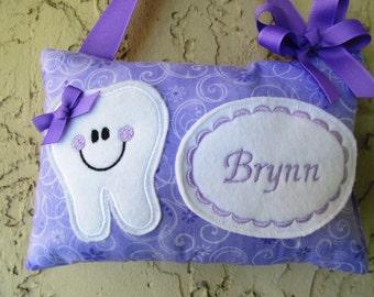 Tooth Fairy Pillow Purple Swirl Sparkling Fabric