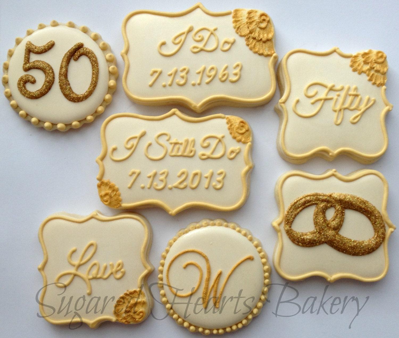 50th Wedding Anniversary Cookies 1 Dozen
