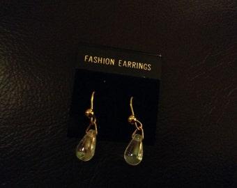 1980s Tiny Crystal Earrings - Pierced