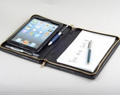 iPad Mini Portfolio Case with mini Writing Pad iPad Leather Purse with iPad Mini Pocket for Apple iPad Mini and iPad mini 4