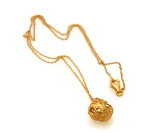 Gold scoop pendant  from the sabrawear collection  .Gift for her,ready to ship
