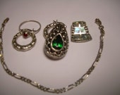 Reduced  for Holidays Sterling Silver Lot  6 pcs