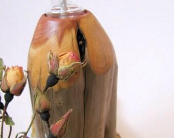 25% OFF. Wood oil lamp. Juniper wood oil lamp.