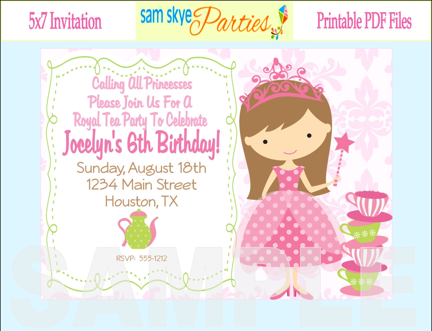 Princess Tea Party Invitations could be nice ideas for your invitation template