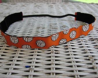 Orange Volleyball Headband - Girls Sports Headband -Team Headband - Adult Headband - No Slip Headband - Voleyball Accessory -Volleyball Gift