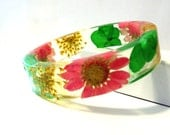 Bangle Clearance 50-75 off. Botanical Resin Bangle Bracelet.