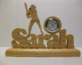 Personalized Softball Desk Clock
