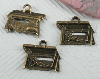 26pcs antiqued bronze color pattern charms EF0657