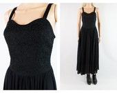 90s Chiffon Dress, pearls and chiffon