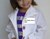 Doc Mcstuffins  inspired Costume Children's Doctor Coat with embroidered name