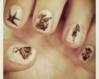 Sailor Jerry Tattoo Nail Decals