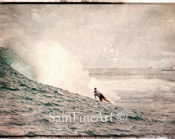 "Finding Yourself in Bali - Bali - Surf Art - Fine Art Photography  7""X10"""
