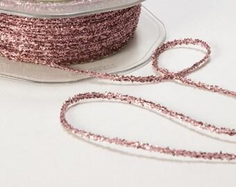 TWINE, Tinsel Metallic String Ribbon, METALLIC PINK