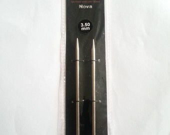 3.5mm/US 4 Knit Pro Nova Metal, Standard length tips