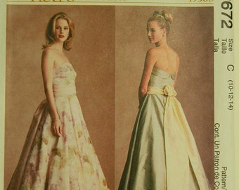 Evening Dress - Retro1950's - Reprint McCall's Retro Collection Pattern 2672 Uncut  Sizes 8-10-12, 10-12-14
