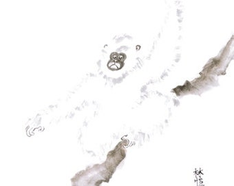 Chinese Zodiac Monkey 8x10 print
