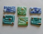 fused glass tiles - mosaic supplies - handmade fused glass - glass art supplies - mosaic tiles