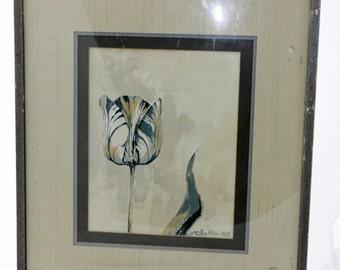 H.E.Buckley Original Painting of Tulip 1983