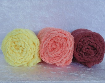 Newborn Photography Cheesecloth Wraps.. Set if THREE.. Newborn Pictures...Photo Props.. Swaddle Wraps...