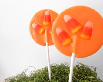 Candy Corn Gourmet Lollipops - Halloween Candy - Fall Party Favors - Halloween Party Favors - Fall Wedding