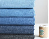 Summer Soft Linen Jean Fabric Solid Color Blue for Apparel,Clothing