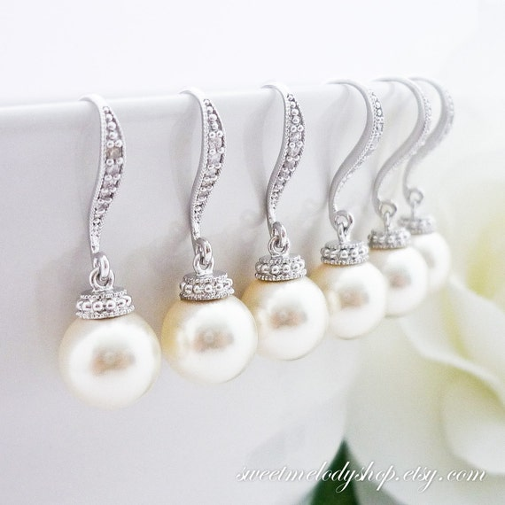 Bridal Jewelry Gift Sets : 10% OFF SET of 4 Bridesmaid Gift Set Wedding Jewelry Bridal Earrings ...