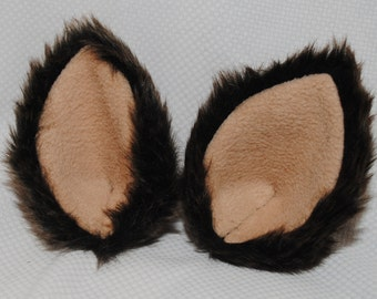 Brown Wolf Ears