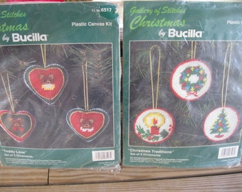 Plastic Canvas Kit-Christmas Ornament Kit-Bucilla Kit-Craft Supply Kit-Bucilla Gallery of Stitches Kits