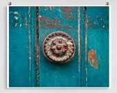 France photography - Door handle, Chartres - France photo,French Fine art,France decor,8x10 wall art,turquoise,Fine art prints,Art Posters