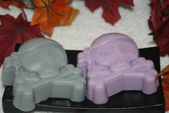 Sale on 2 Natural Glycerin Skull Soaps scented Absinthe