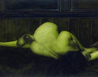 Figure Painting of reclining nude