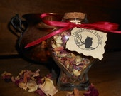 Witch Bottle Spell Jar -- LOVE and PASSION - For the Altar or Hearth - Invites Attraction, ROMANCE, and Fidelity into Craft Work and Rituals