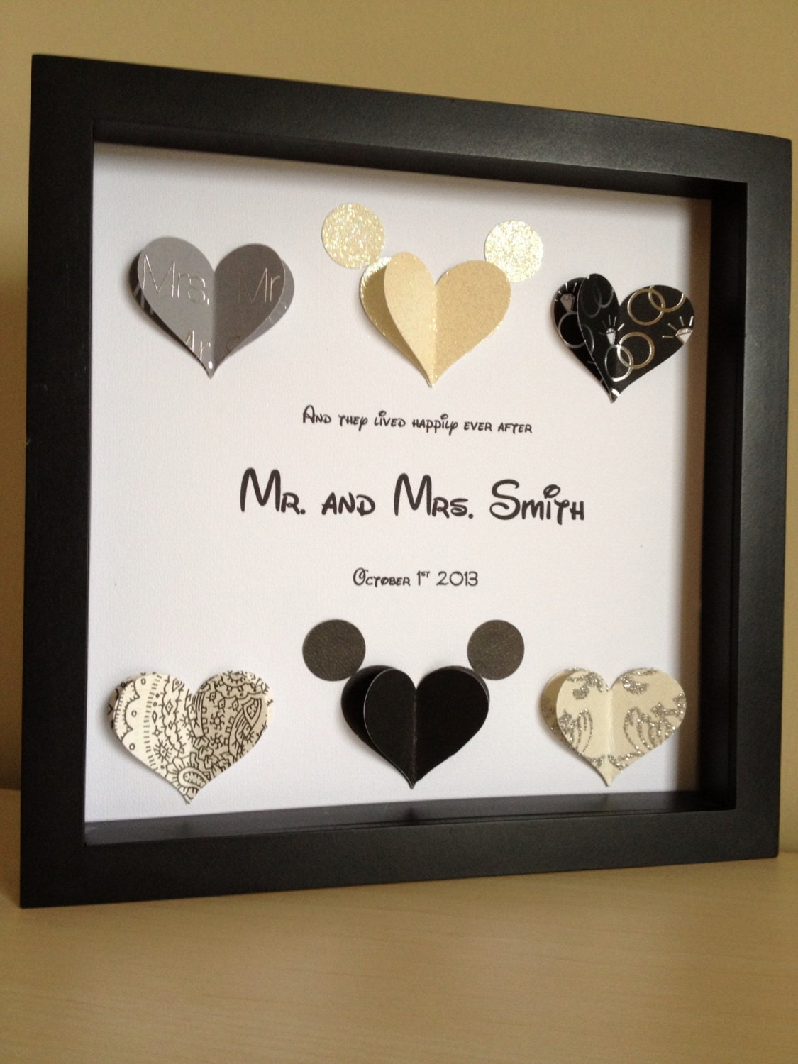 Surprise Wedding Gift For Groom : Disney Inspired Wedding 3d Paper Art Customize for the