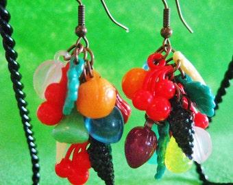 Funky Fruit Salad Earrings