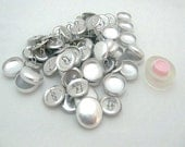 "100 Aluminum Wire Loop Self Button Covers Size 30 (3/4"")"