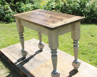 Kitchen Island, FREE SHIPPING, Country, Turned Legs, Rustic