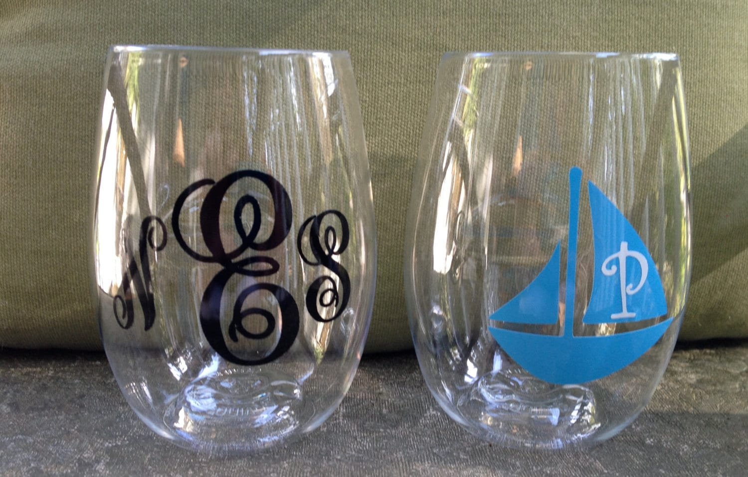 Stemless Acrylic Personalized Wine Glasses By