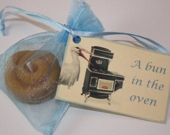 Baby Shower Favors - A Bun in the Oven - Announcements - Bun Candle, Set of Ten (10)